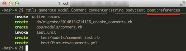 rails generate Comment