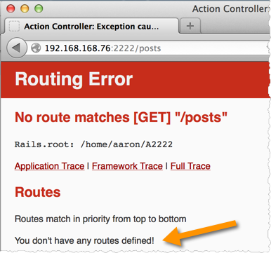 Routing Error